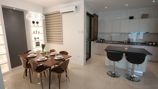 Rivervale Condo Type C: Dining room & Dry Kitchen