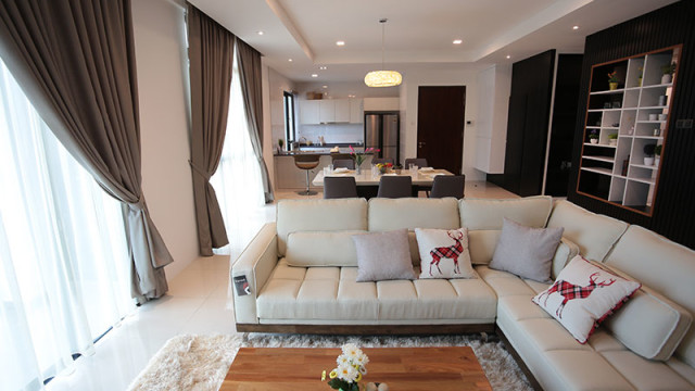 Rivervale Condo Type B: Living room
