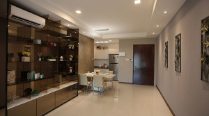 Rivervale Condo Type D: Dining & kitchen area