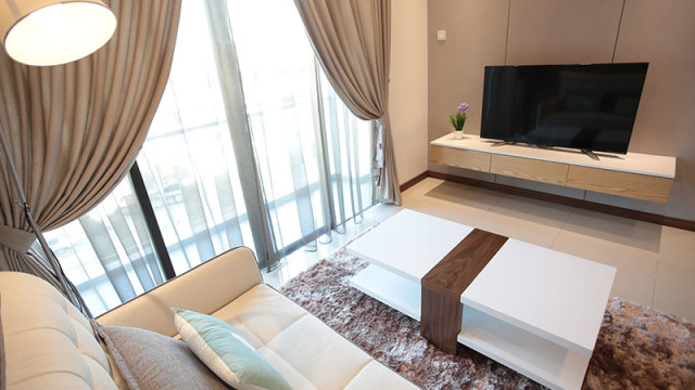 Rivervale Condo Type D: Living room
