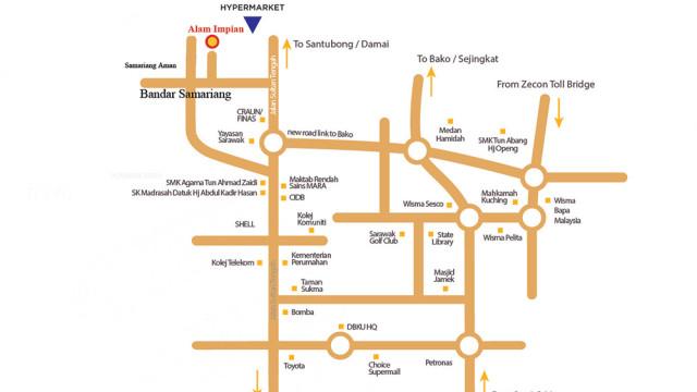 Alam Impian Locality Map