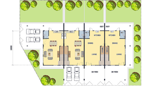 Alam-Impian-Double-Storey-Terrace-Ground-Floor-Plan