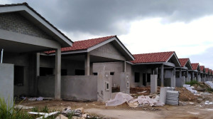 Alam Impian Phase 9B Single Storey Semi Detached - Front view of SSSD SL 27-38